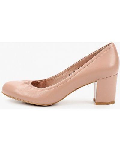 Кожаные розовые туфли закрытые Wilmar