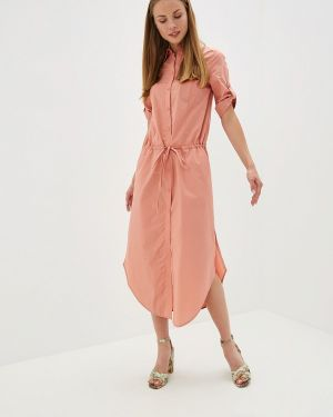 Платье коралловый платье-рубашка Buono