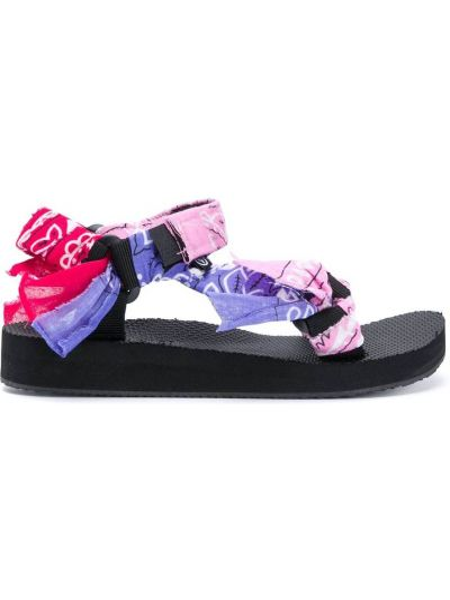 Różowy z paskiem sandały otwarty palec u nogi na paskach Arizona Love