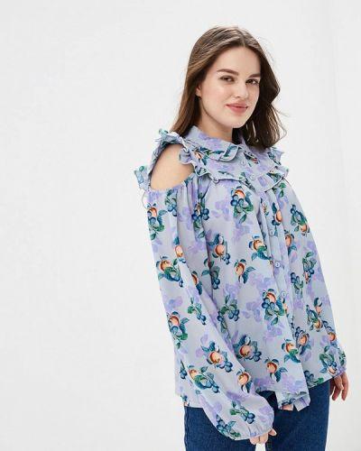 Блузка синяя весенний Lost Ink Plus