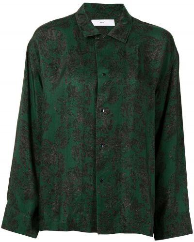 Зеленая длинная рубашка Toga Pulla