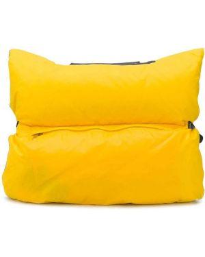 Маленькая сумка нейлоновая желтый Valextra