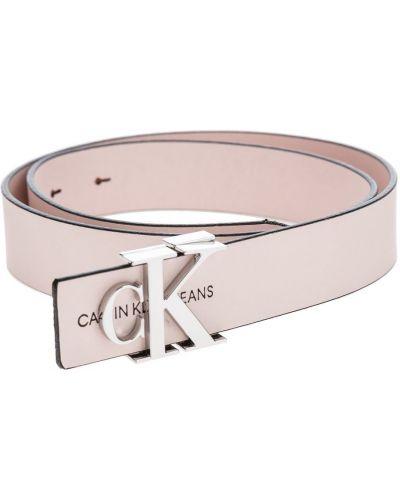 Кожаный розовый ремень с пряжкой Calvin Klein Jeans