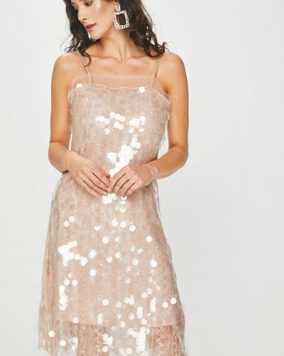 Платье мини с пайетками на бретелях Answear
