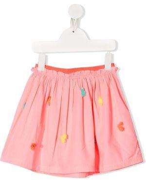 Różowa spódnica rozkloszowana bawełniana Billieblush