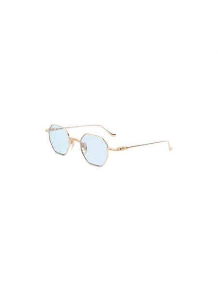 Солнцезащитные очки металлические золотые Chrome Hearts