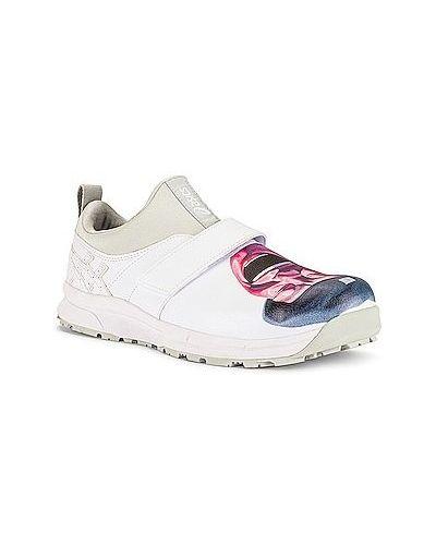 Białe sneakersy skorzane na rzepy Comme Des Garcons Shirt