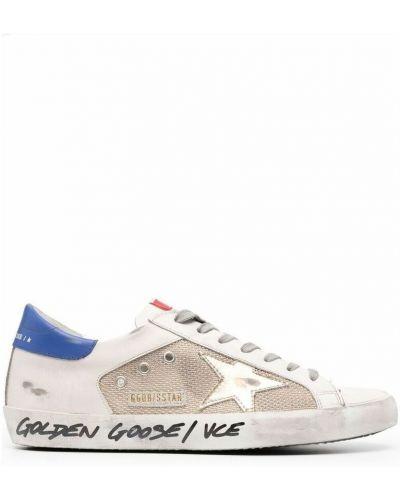 Beżowe sneakersy Golden Goose