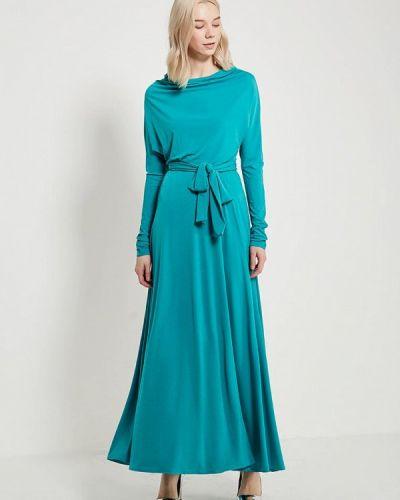 Бирюзовое платье с длинными рукавами Alina Assi