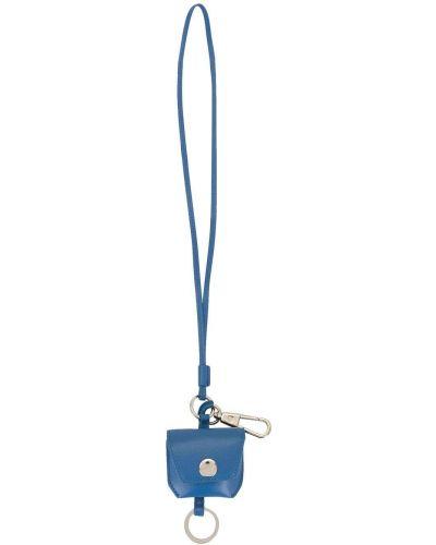 Niebieski skórzany z paskiem etui na klucze 3.1 Phillip Lim