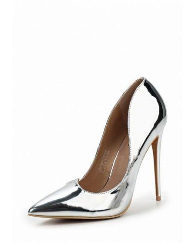 Туфли-лодочки серебряного цвета Lost Ink.