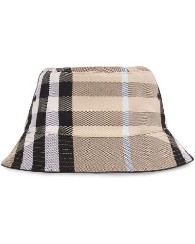 Czarny kapelusz skórzany Burberry