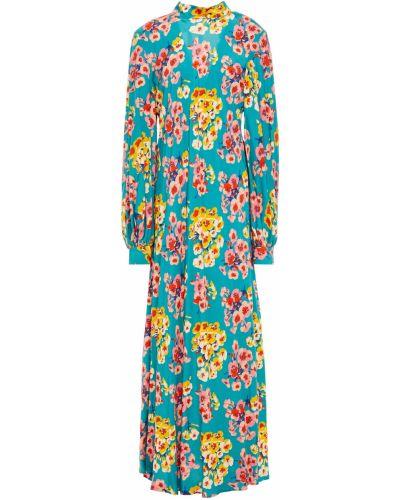 Платье макси на пуговицах - бирюзовое Paul & Joe