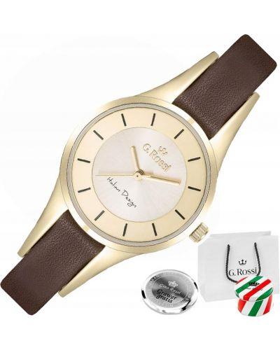 Z paskiem czerwony skórzany zegarek Gino Rossi