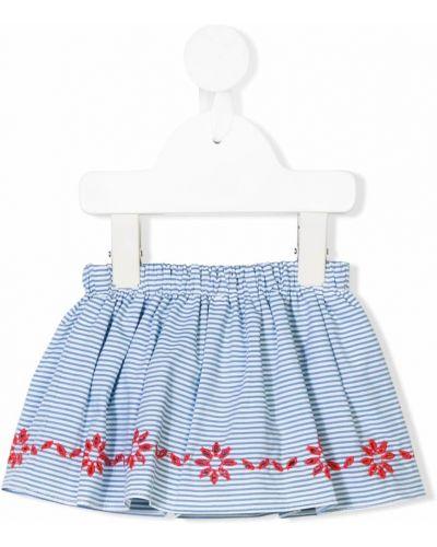 Синие шорты в полоску с поясом Knot