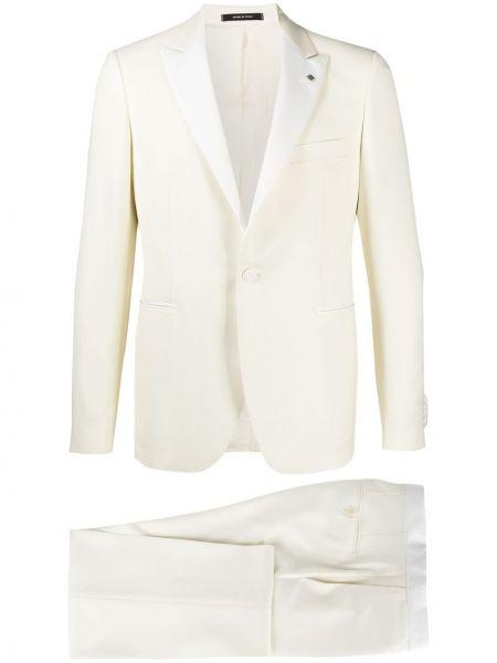 Klasyczny biały garnitur wełniany Tagliatore