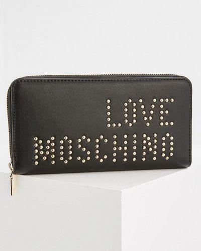 Черный кошелек Love Moschino