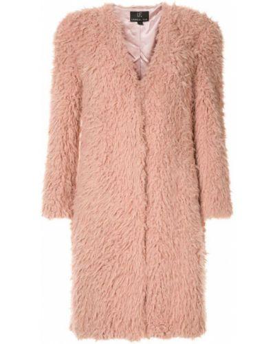 Розовое пальто Unreal Fur