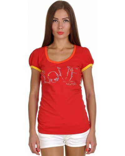 Красная футболка Love Moschino