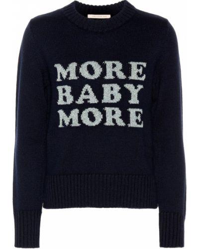 Klasyczny niebieski sweter wełniany Christopher Kane