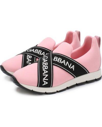 Розовые кроссовки Dolce & Gabbana