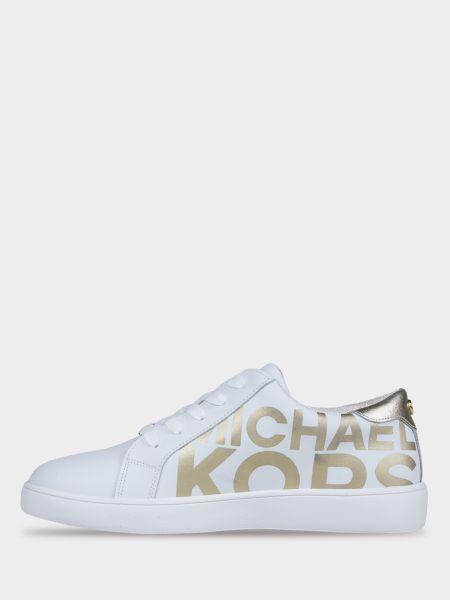 Белые кожаные полуботинки на шнуровке Michael Kors