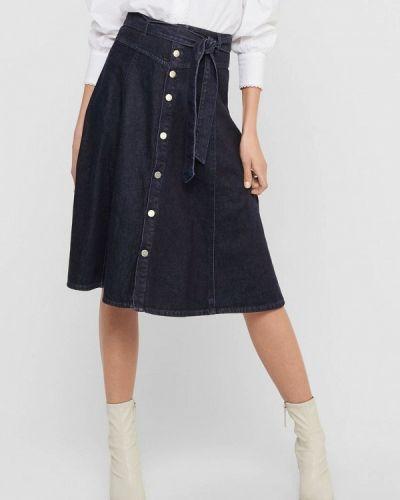 Синяя джинсовая юбка Only