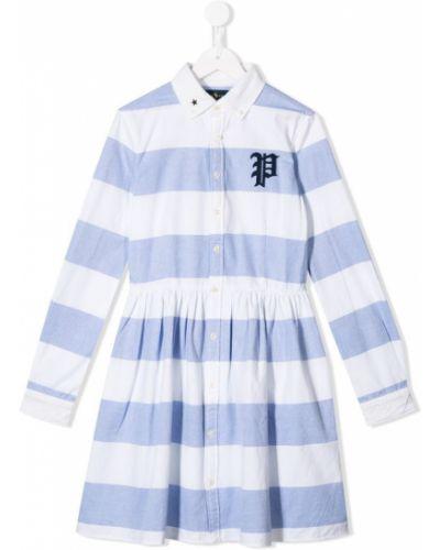 Платье с рукавами в полоску с манжетами Ralph Lauren Kids