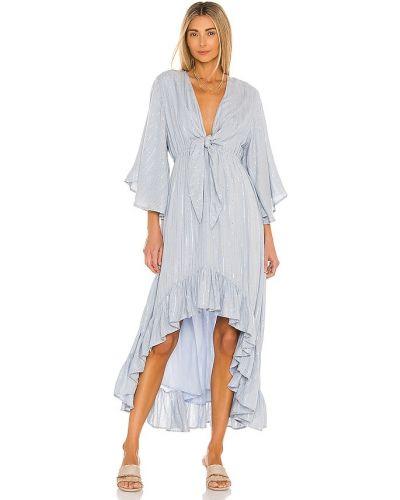 Синее платье с люрексом Sundress