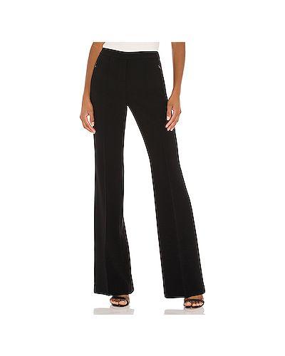 Черные плиссированные брюки с поясом на молнии Theory