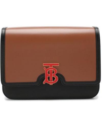 Кожаная сумка среднего размера коричневый Burberry