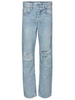 Хлопковые ватные синие джинсы Grlfrnd
