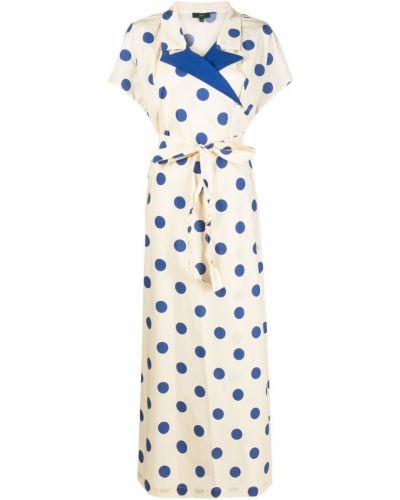 Платье мини в горошек с запахом с короткими рукавами Jejia