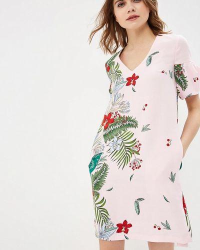 Розовое платье весеннее Zarina