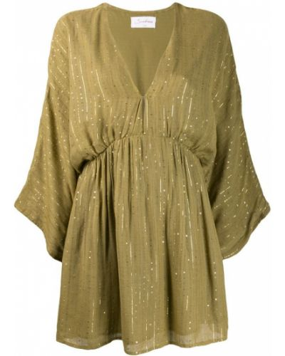 Платье мини с вырезом на пуговицах эластичное Sundress
