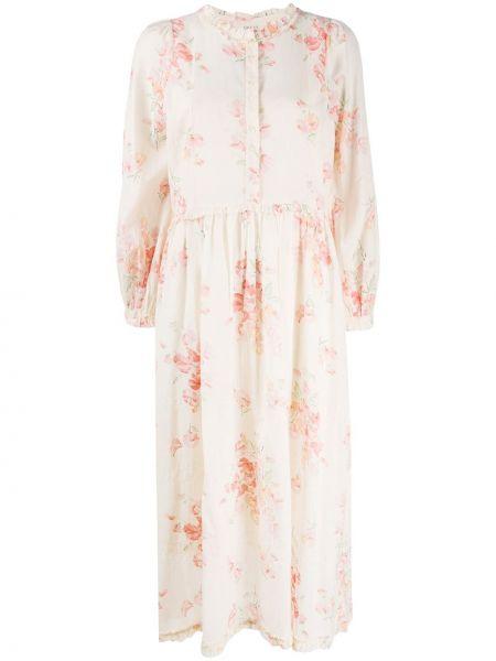 Приталенное платье на пуговицах со вставками с драпировкой The Great.