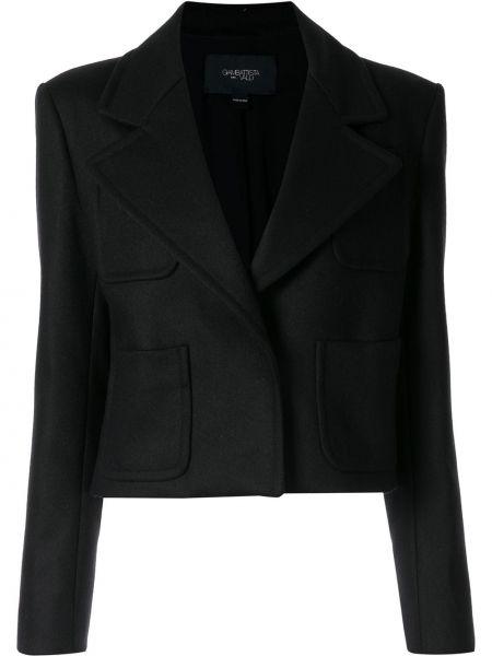 Однобортный черный приталенный пиджак Giambattista Valli