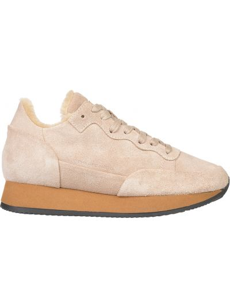 Кожаные кроссовки - бежевые Philippe Model