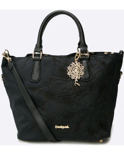 Czarna torba z krótkimi uchwytami Desigual