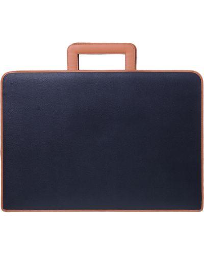 Кожаный портфель - черный Tigamaro