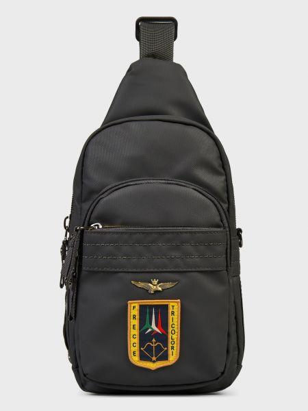 Кожаная сумка - серая Aeronautica Militare