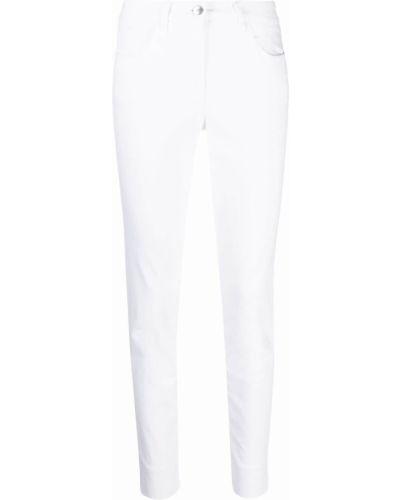 Белые джинсы с нашивками на пуговицах Luisa Cerano