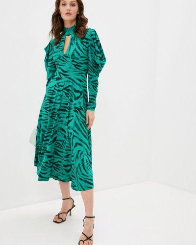 Прямое зеленое платье А-силуэта Topshop