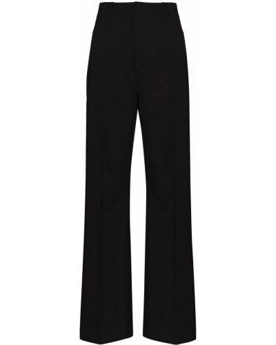 Czarne spodnie bawełniane z paskiem Jacquemus