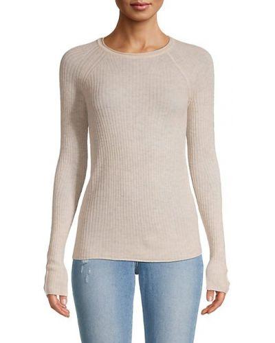 Prążkowany długi sweter wełniany z raglanowymi rękawami Rag & Bone