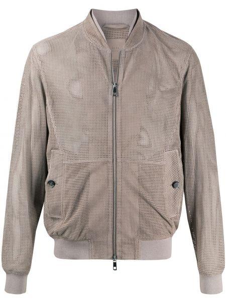 Коричневая куртка с манжетами на молнии с карманами Desa 1972