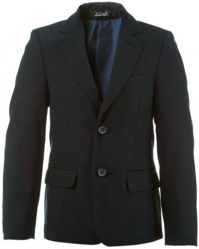 Синий пиджак с поясом для офиса Lilus