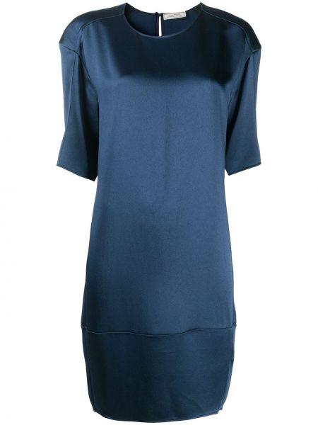 С рукавами синее платье миди с вырезом Nina Ricci