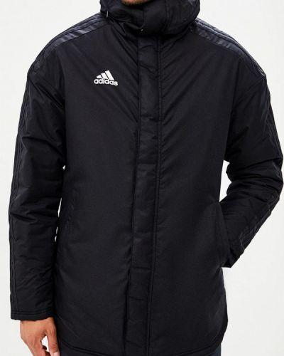 Утепленная куртка демисезонная черная Adidas
