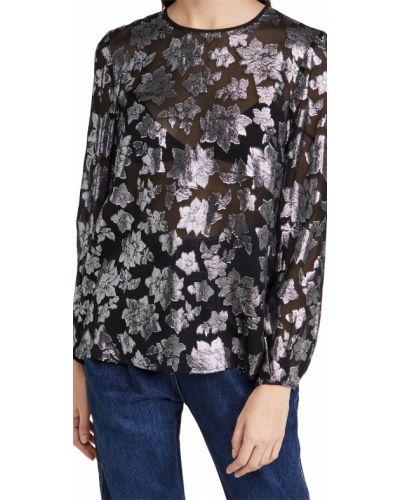 Шелковая блузка с длинными рукавами с декольте Club Monaco